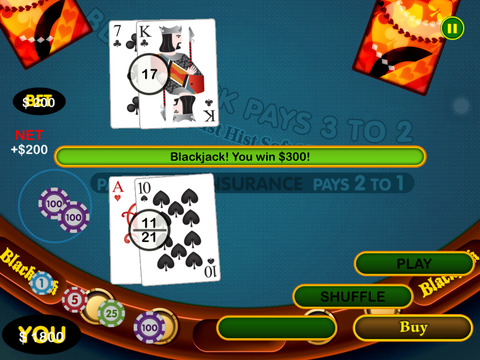Blackjack pro bet drop 48002